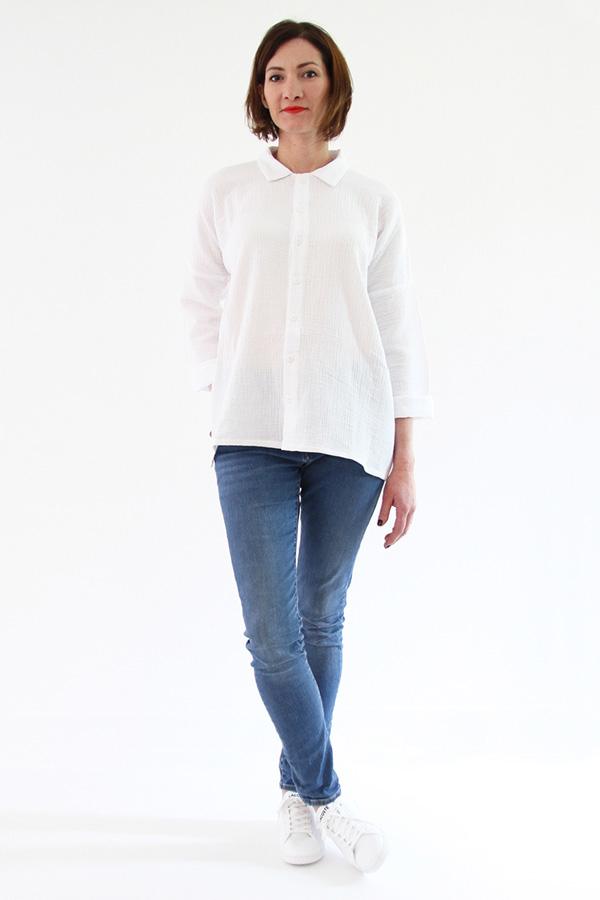I AM Patterns - Sewing pattern - Lucienne boxy shirt dress tunic - front shirt