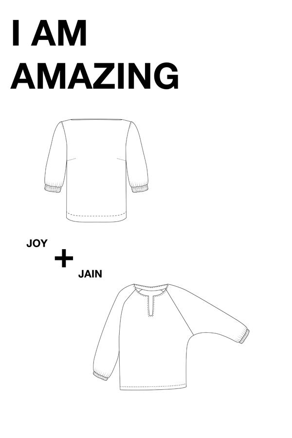 I AM Patterns Patron Couture Duo Pack Promo Lot Jain Joy Blouse dessin technique