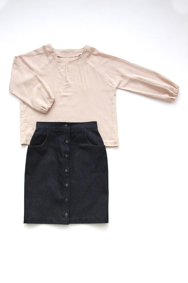 I AM Patterns - Duo bundle Jain Blouse - Romeo skirt