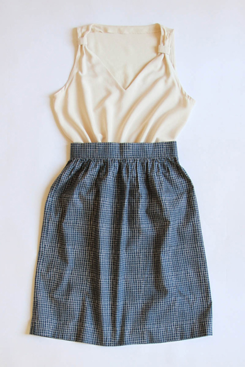 I AM Patterns - Duo bundle sewing patterns - Gaia cami top - Victoria gathered skirt