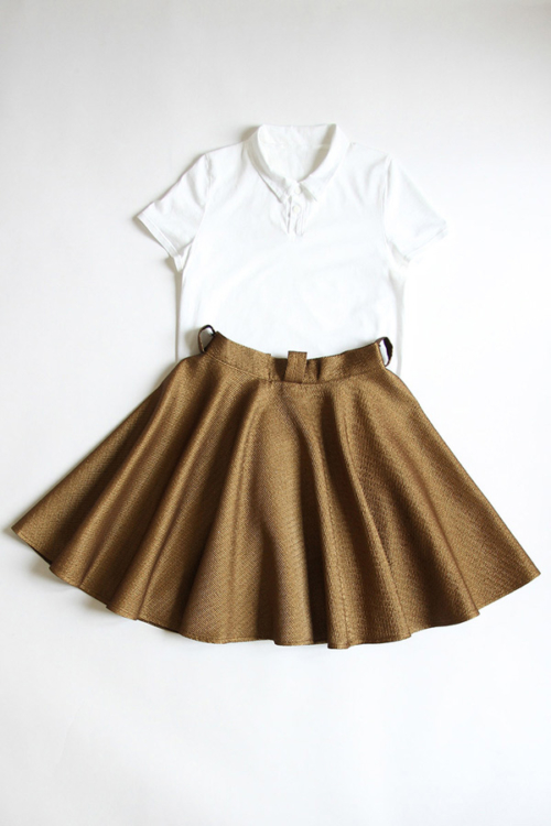 I AM Patterns - Duo bundle Chouette polo shirt - Felicie skirt