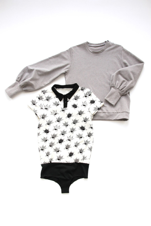 I AM Patterns - Duo bundle sewing patterns - Zebre sweatshirt - Chouette polo shirt body suit