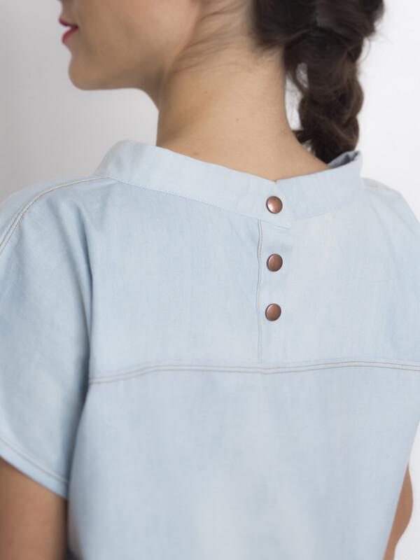 I AM Pan - sewing pattern blouse back - I AM Patterns