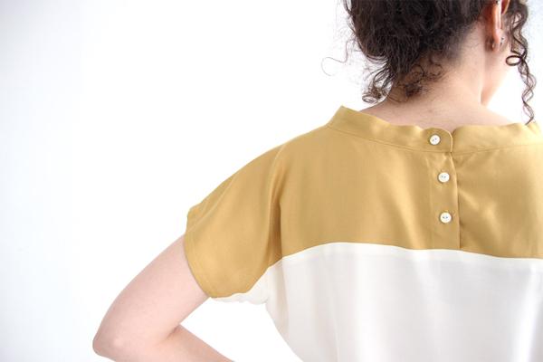 I AM Patterns Patron Couture Femmes Haut Pan Deux Couleurs Detail Dos