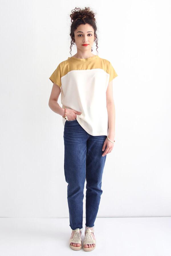 I AM Patterns Patron Couture Femmes Haut Pan Deux Couleurs Devant