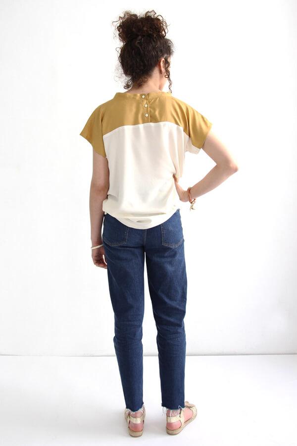 I AM Patterns Patron Couture Femmes Haut Pan Deux Couleurs Devant Dos