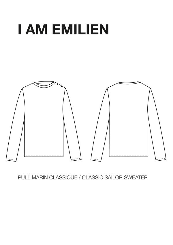 I AM Patterns Emilien sewing pattern classic sailor jumper