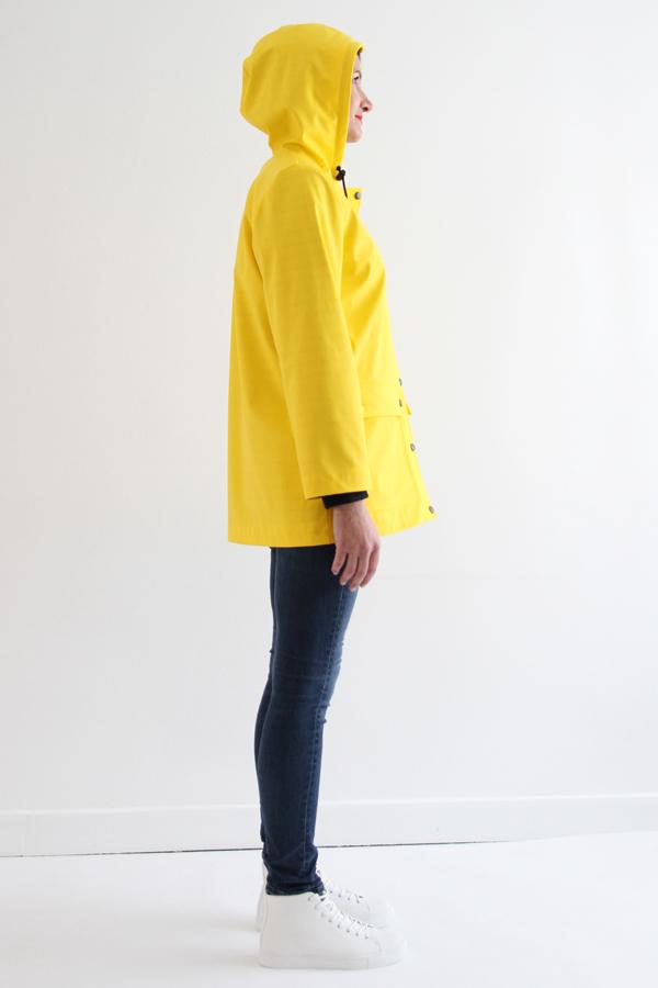 I AM Patterns Jacques Patron Couture Cire Jaune Classique Manteau Pluie Profil Avec Capuche