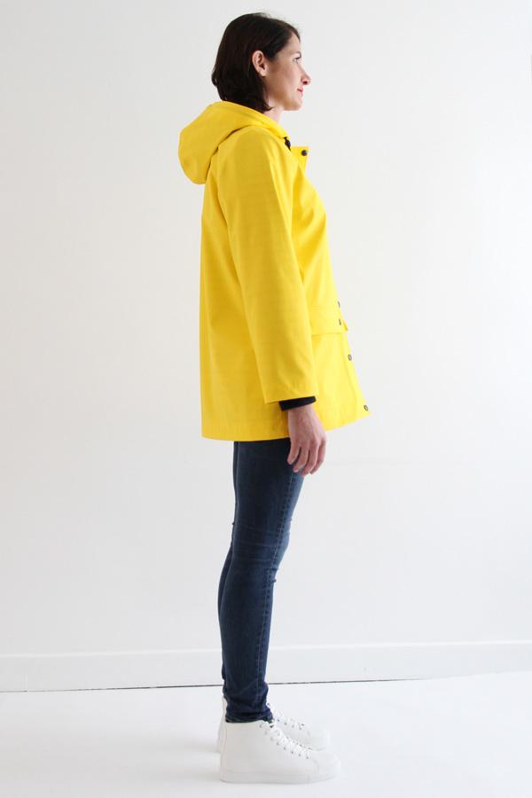 I AM Patterns Jacques Patron Couture Cire Jaune Classique Manteau Pluie Profil Sans Capuche