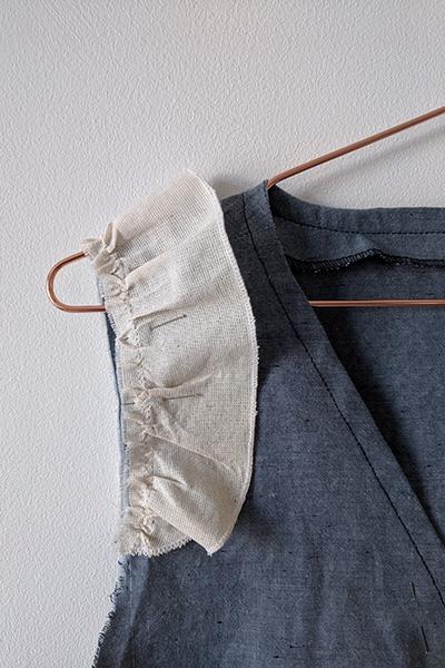 I AM Patterns Sewing patterns Gaïa Cami top tutorial frills cap sleeves fil_a_peau
