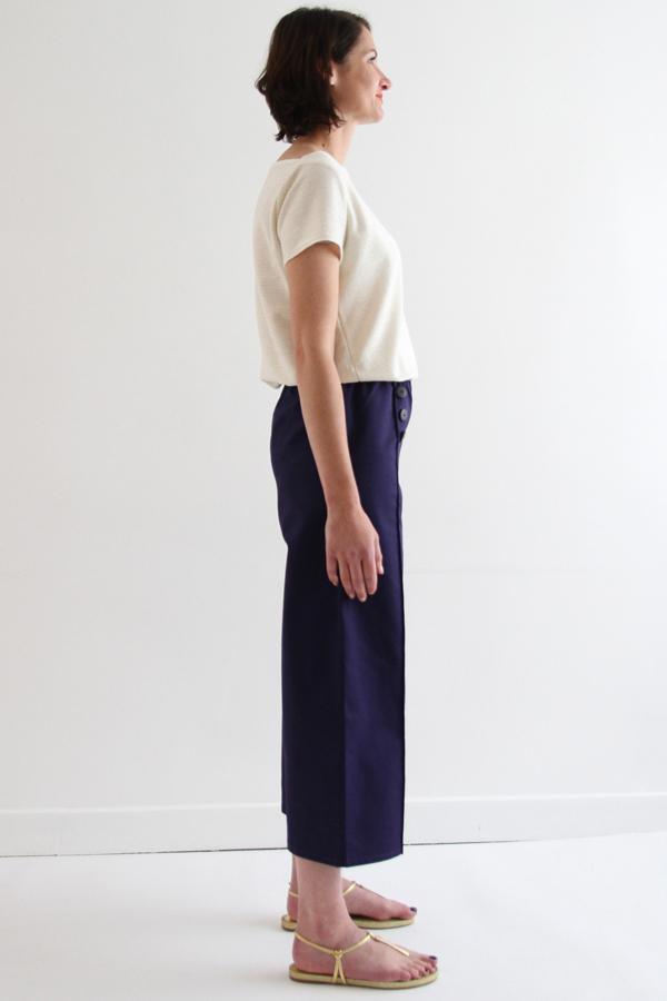 I AM Patterns Armor Patron Couture Pantacourt Simple Profil