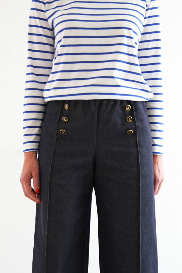 I AM Patterns Armor Patron Couture Pantalon Marin Simple Detail Devant