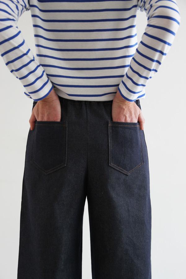 I AM Patterns Armor Patron Couture Pantalon Marin Simple Details Poches