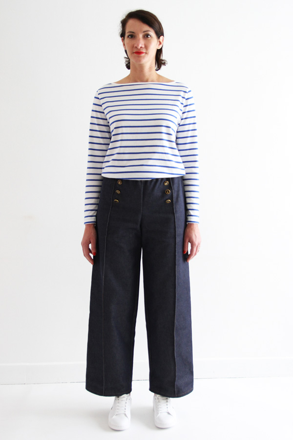 I AM Patterns Armor Patron Couture Pantalon Marin Simple Devant