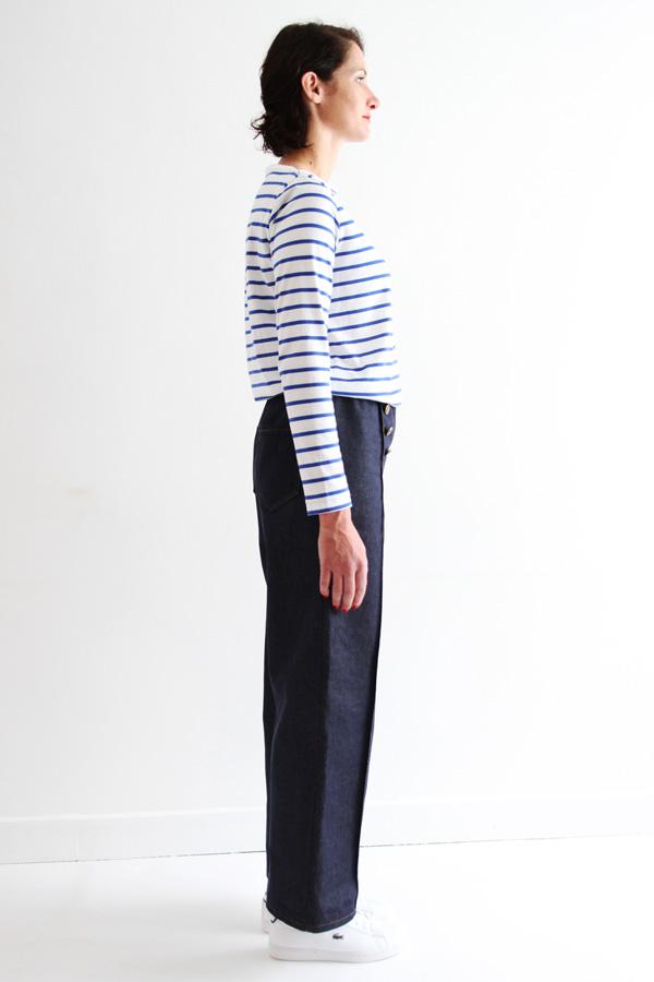 I AM Patterns Armor Patron Couture Pantalon Marin Simple Profil