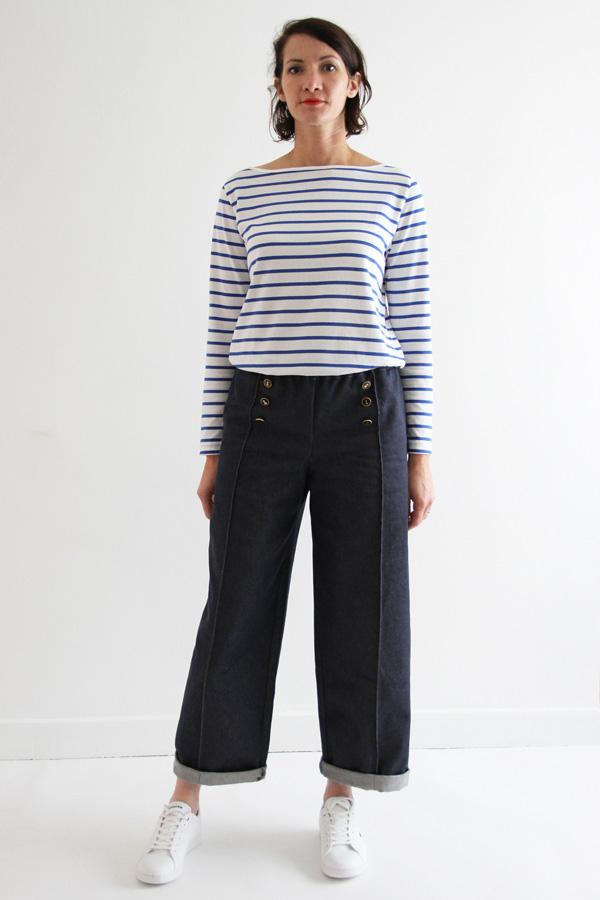 I AM Patterns Armor Patron Couture Pantalon Marin Simple Vue Devant