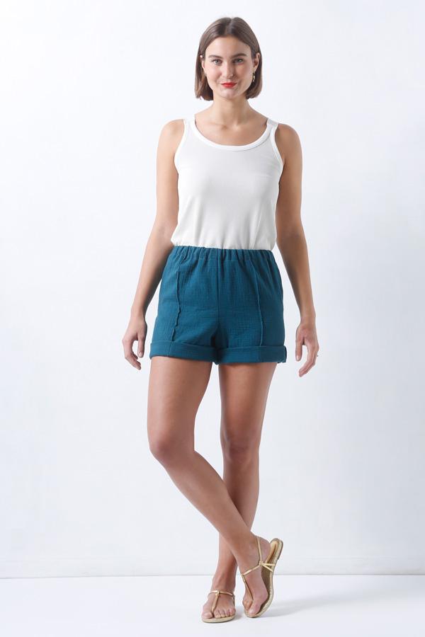 I AM Patterns Armor Patron Couture Pantalon Short Marin Simple Devant
