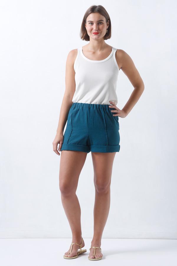 I AM Patterns Armor Patron Couture Pantalon Short Marin Simple Vue Devant