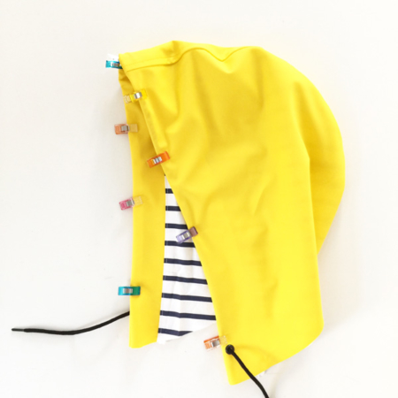 I AM Patterns tutorial advice how to sew raincoat fabrics hoods clips
