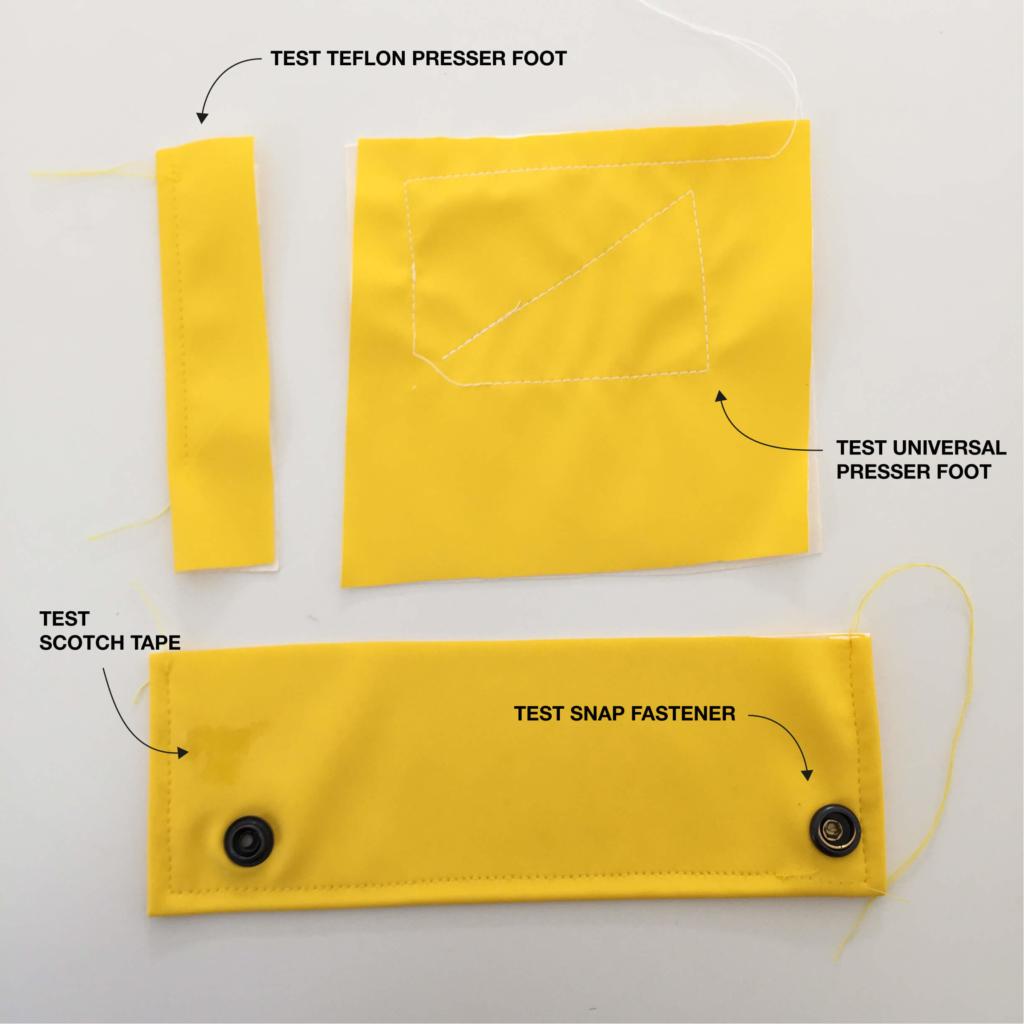 I AM Patterns tutorial advice how to sew raincoat fabrics tests English