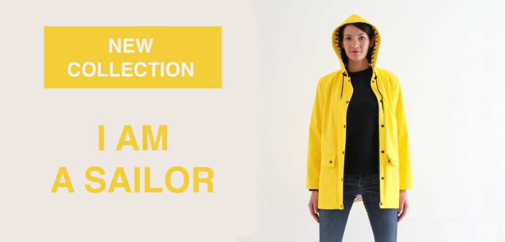 Complétez la tenue de la collection I AM A SAILOR avec le bonnet I AM Michel et l'écharpe I AM Michelle.