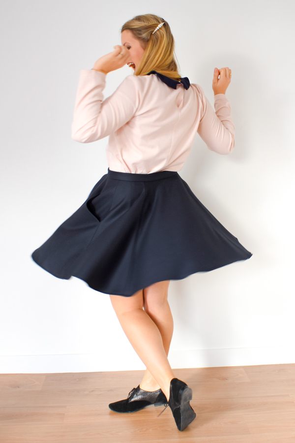 I AM Patterns Ladies sewing pattern Cindy skater skirt with pockets Coupons de St Pierre