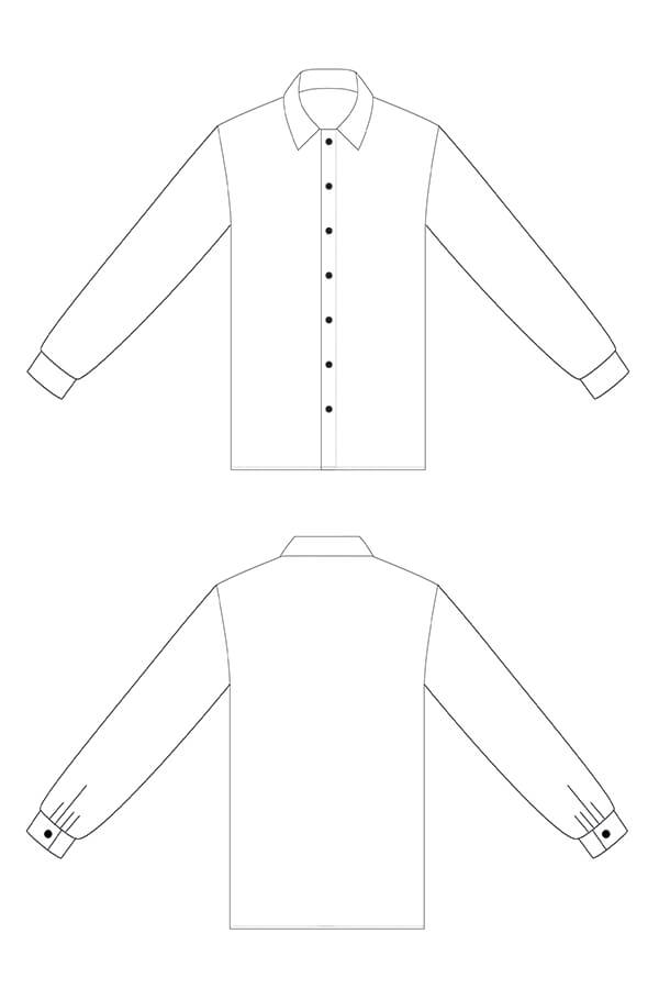 I AM Lucienne Free Sewing Pattern Extension classic shirt sleeve Lucienne