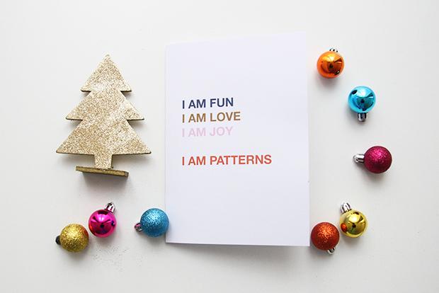 I AM Patterns Cadeau De Derniere Minute Isotop