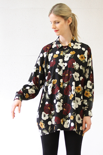 I AM Patterns - Patron couture extension gratuite - Chemise Lucienne - Manches classiques devant zoom