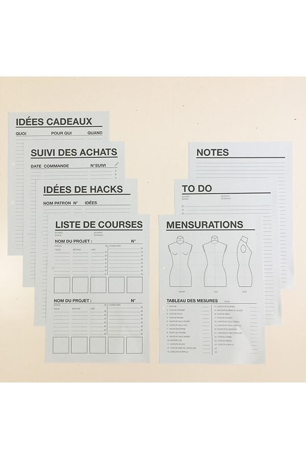 I AM Patterns Organiseur Couture différentes feuilles listes