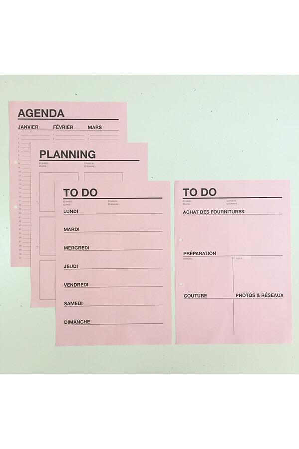 I AM Patterns Organiseur Couture différentes feuilles planning