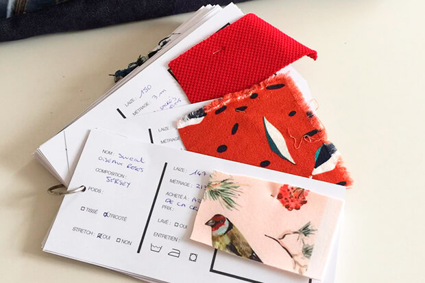 I AM Patterns Sewing Planner I AM Organised swatch tags
