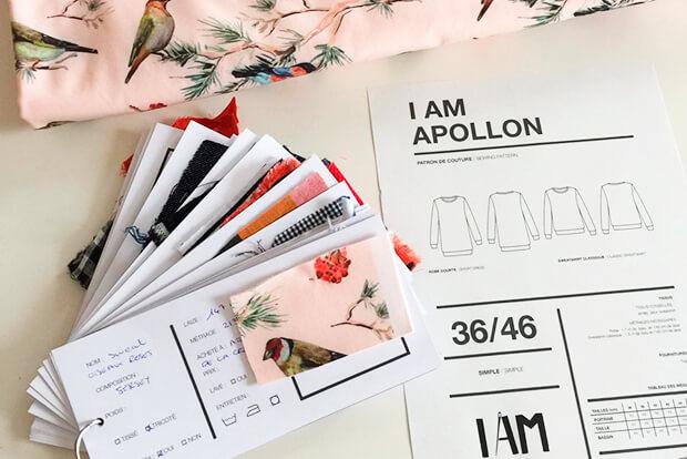 I AM Patterns Organiseur Couture Organised Organiser Ranger Ses Tissus Fiche et Patrons