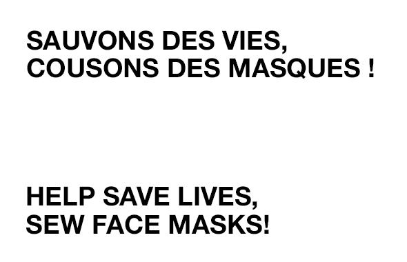 Coudre masque protection coronavirus