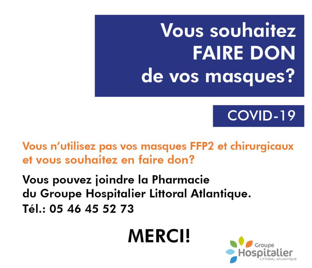 Appel Don De Masques Chirurgicaux Groupe Hospitalier La Rochelle
