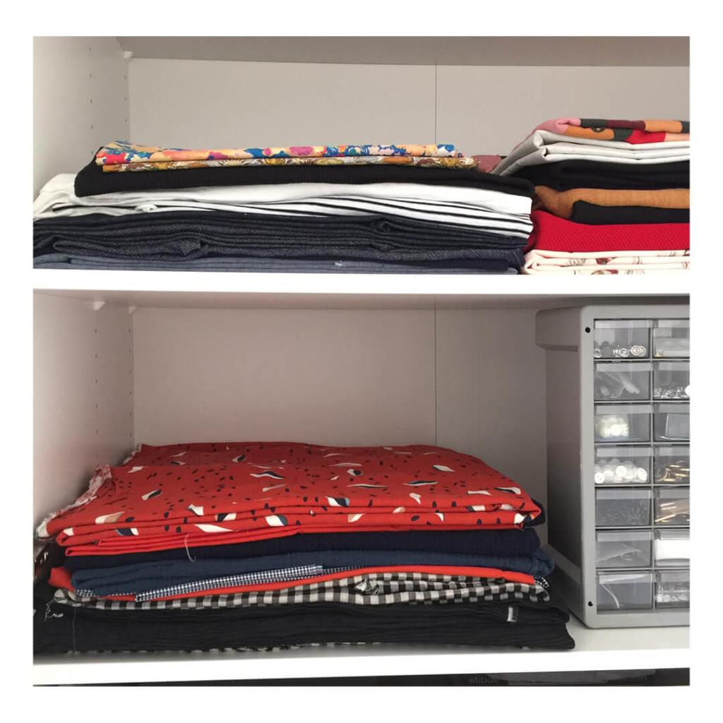I AM Patterns Sewing Planner I AM Organised shelves
