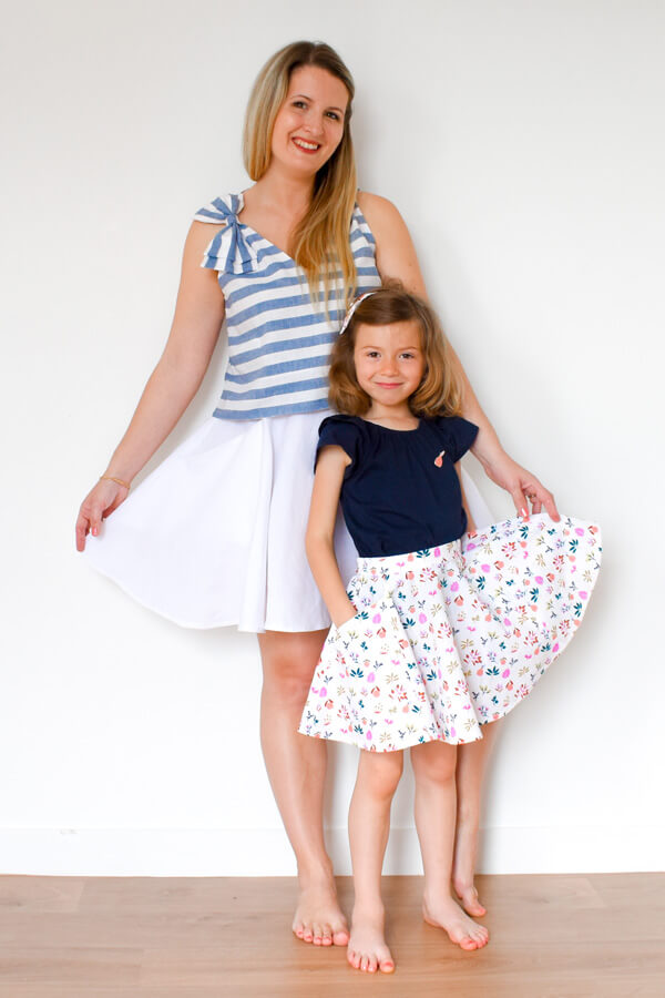 I AM Patterns Patron Couture Duo Mere Fille Jupe Cindy Patineuse @ledressingdecindy