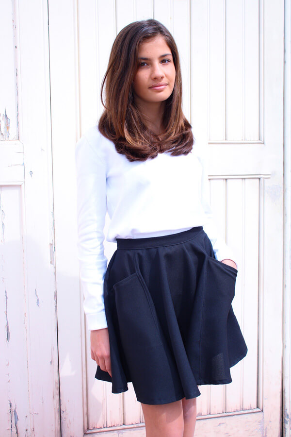 I AM Patterns Kids Sewing Pattern Skater Skirt Cindy 12 years old
