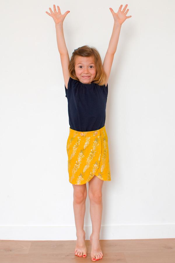 I AM Patterns Children Sewing Pattern Malo Mini Wrap Skirt