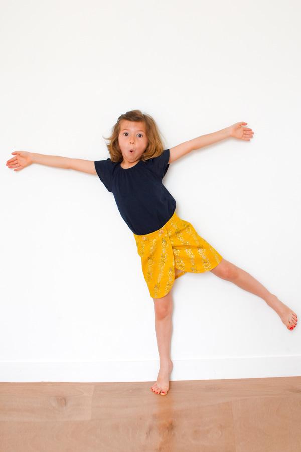 I AM Patterns Patron Couture Malo Mini Jupe Portefeuille Enfant