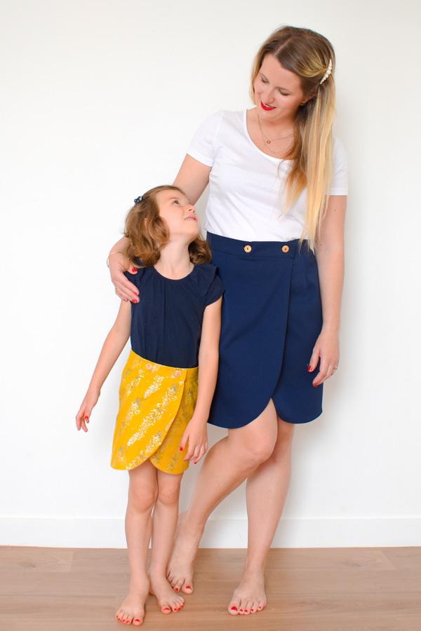I AM Patterns Sewing Pattern Duo Mum Daughter Malo Wrap Skirt