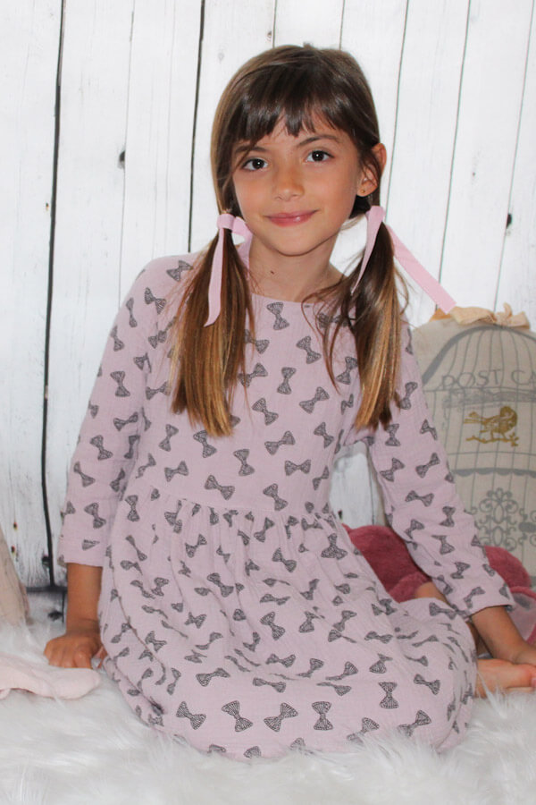 I AM Patterns Patron Couture Cassiopee Mini Robe Ample Froncée Enfant