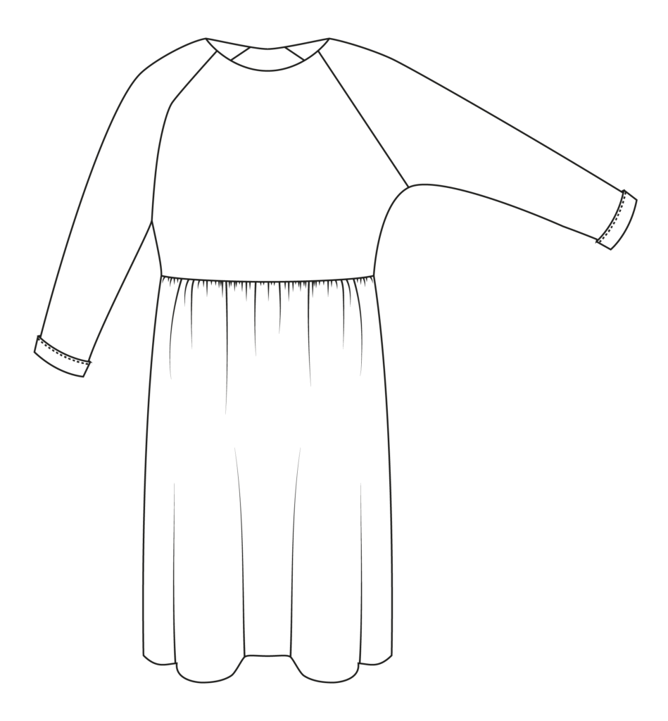 I AM Patterns Robe Cassiopée Technical Drawing