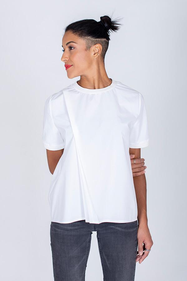 I AM Patterns Patron Couture Blouse Clochette Blanc Devant Zoom