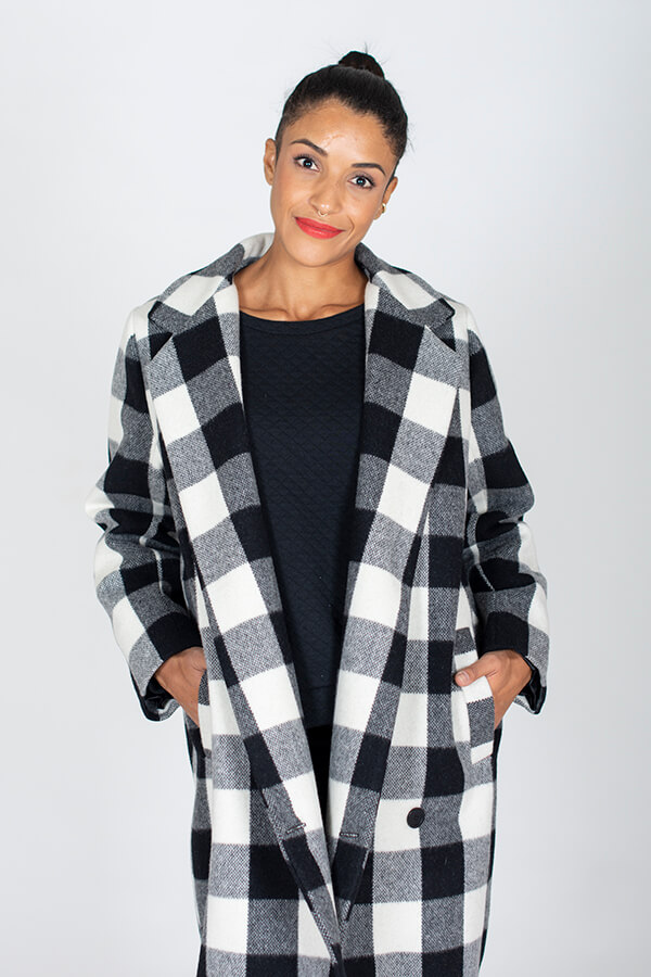 I AM Patterns ladies Sewing Pattern Merlin Fully Lined Coat Front Zoom