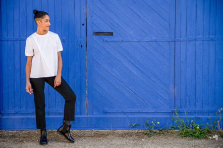 I AM Patterns Patron Couture Blouse Clochette Blanc Porte Bleue