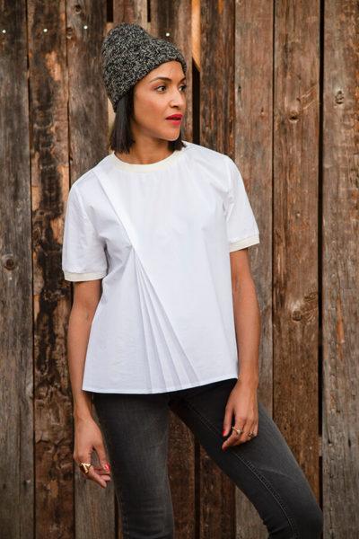 I AM Patterns Patron Couture Blouse Clochette Blanc Portail Devant