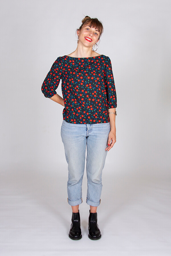 I AM Patterns Patron Blouse Joy Collab Tissu Atelier 27 Devant