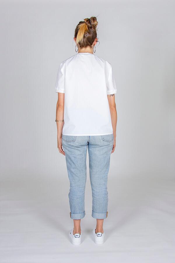 I AM Patterns Patron Couture Blouse Clochette Blanc Dos