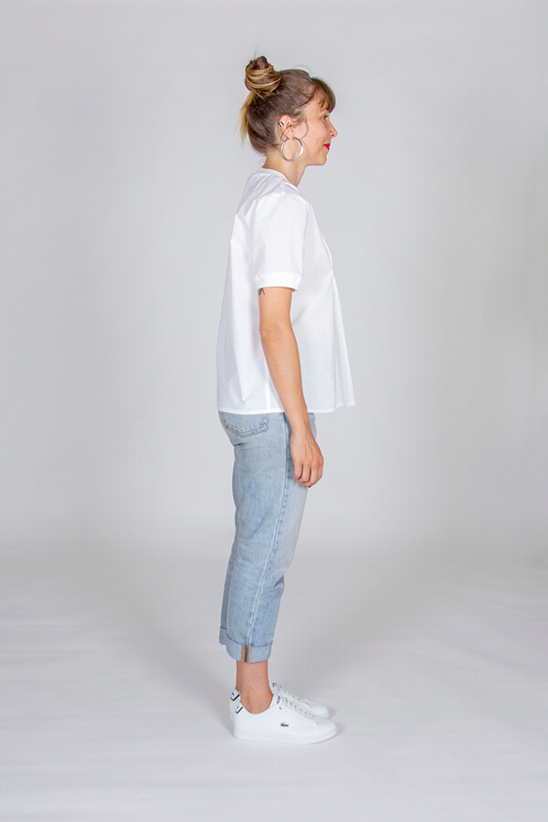 I AM Patterns Patron Couture Blouse Clochette Blanc Profil